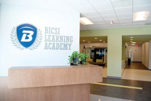 BICSI HQ and learning academy reception desk
