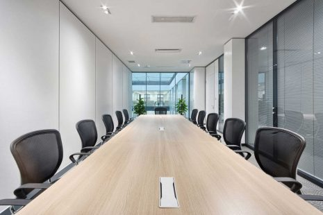 Smart meeting room with connected sensors