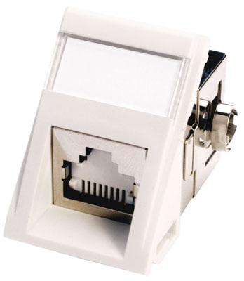 Powercat 6 utp mod snap module white molex powercat 6 shielded angled mod snap iii datagate module 568ab white publicscrutiny Choice Image