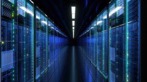 dark server room corridor